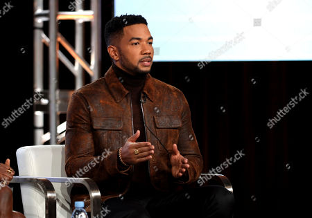 """Alano Miller speaks at the OWN: Oprah Winfrey Networky's """"Cherish the Day"""" during the Discovery Network TCA 2020 Winter Press Tour at the Langham Huntington, in Pasadena, Calif"""