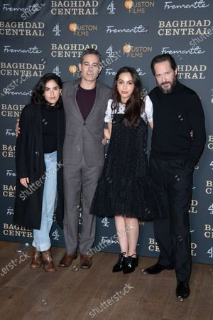 Stock Photo of Leem Lubany, Waleed Zuaiter, July Namir and Bertie Carvel