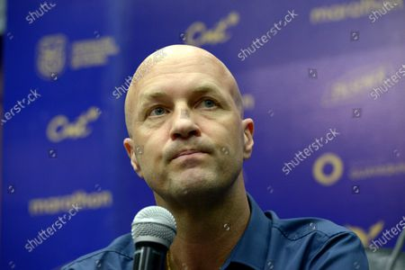 The coach of Ecuador, Jordi Cruyff, offers a press conference, in Guayaquil, Ecuador, 16 January 2020. Ecuador will debut against Argentina for the qualifiers to the World Cup in Qatar 2022.