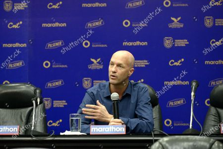 Editorial picture of Coach of Ecuador Jordi Cruyff press conference, Guayaquil - 16 Jan 2020