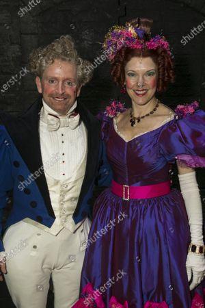 Ian Hughes (Thenardier) and Josefina Gabrielle (Madame Thenardier) backstage