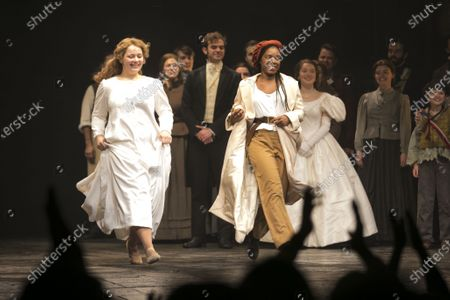 Stock Picture of Carrie Hope Fletcher (Fantine) and Shan Ako (Eponine) during the curtain call