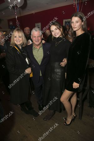 Stock Picture of Twiggy Lawson, Cameron Mackintosh (Producer), Lily James and India Glover