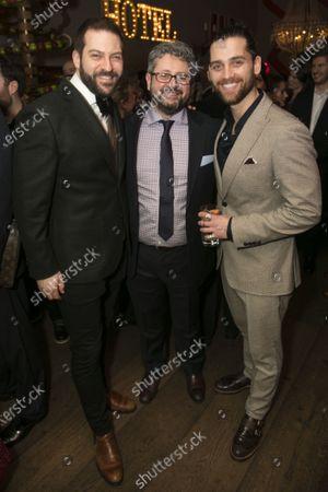 Stock Image of Jon Robyns (Jean Valjean), Laurence Connor (Director) and Bradley Jaden (Javert)