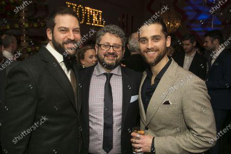Jon Robyns (Jean Valjean), Laurence Connor (Director) and Bradley Jaden (Javert)