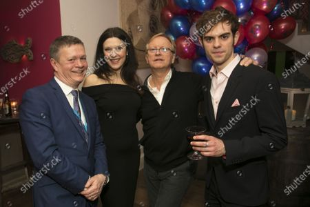 Stock Picture of James Powell (Director), Josefina Gabrielle (Madame Thenardier), Stephen Crockett (Casting Director) and Harry Apps (Marius)