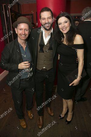 Ian Hughes (Thenardier), Jon Robyns (Jean Valjean) and Josefina Gabrielle (Madame Thenardier)