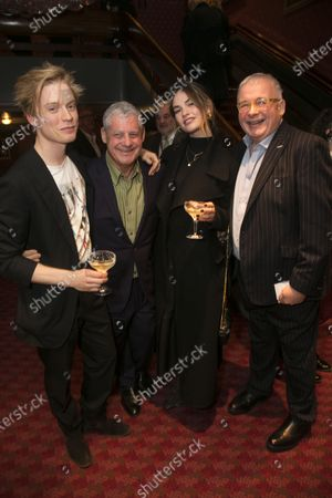 Freddie Fox, Cameron Mackintosh (Producer), Lily James and Christopher Biggins