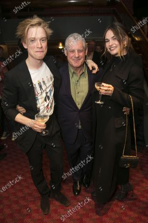 Freddie Fox, Cameron Mackintosh (Producer) and Lily James