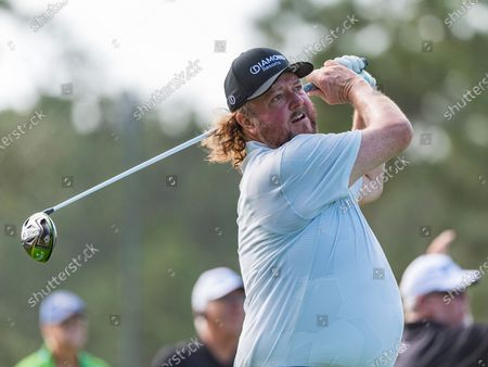 Stock Image of Lake Buena Vista, FL, U.S: Country Music Artist Colt Ford during 1st round of Diamond Resorts Tournament of Champions Presented by Insurance Office of America held at Tranquilo Golf Course at Four Seasons Golf and Sports Club Orlando in Lake Buena Vista, Fla
