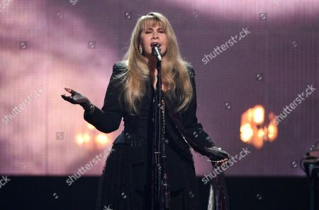 Stevie Nicks performing at the Rock & Roll Hall of Fame induction ceremony in New York. The Who, Lizzo and Foo Fighters will join Stevie Nicks, Lionel Richie, Lenny Kravitz, The Avett Brothers and Elvis Costello at the 2020 New Orleans Jazz and Heritage Festival