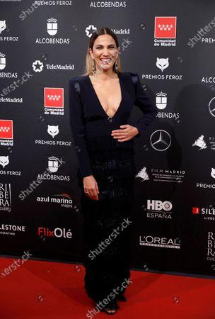 Toni Acosta attends the 2020 Premios Feroz (Feroz Awards) ceremony at the Teatro Auditorio Ciudad de Alcobendas in Madrid, Spain, 16 January 2020.