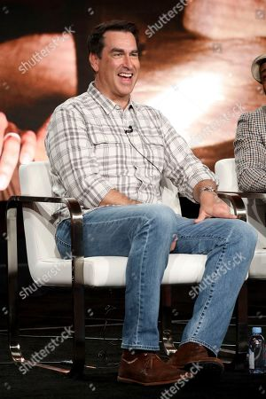 "Rob Riggle appears at the Discovery Channel's ""Rob Riggle: Global Investigator"" during the Discovery Network TCA 2020 Winter Press Tour at the Langham Huntington, in Pasadena, Calif"