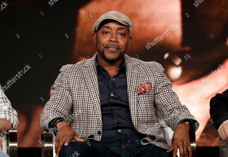 """Will Packer speaks at the Discovery Channel's """"Rob Riggle: Global Investigator"""" during the Discovery Network TCA 2020 Winter Press Tour at the Langham Huntington, in Pasadena, Calif"""