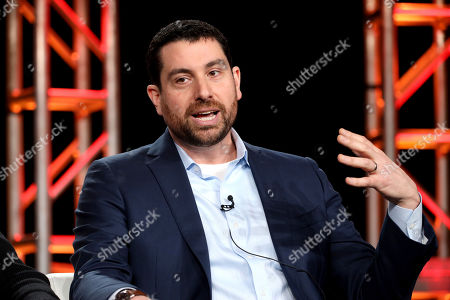 "Matthew Kelly speaks at the Discovery Channel's ""Rob Riggle: Global Investigator"" panel during the Discovery Network TCA 2020 Winter Press Tour at the Langham Huntington, in Pasadena, Calif"