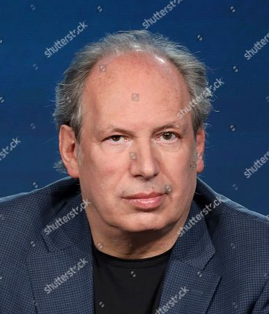 """Hans Zimmer speaks at the BBC America's """"Seven Worlds, One Planet"""" panel during the AMC Networks TCA 2020 Winter Press Tour at the Langham Huntington, in Pasadena, Calif"""