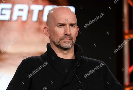"Kelly Smith speaks at the Discovery Channel's ""Rob Riggle: Global Investigator"" during the Discovery Network TCA 2020 Winter Press Tour at the Langham Huntington, in Pasadena, Calif"
