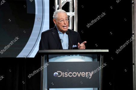 "Stock Picture of Group President, Investigation Discovery, Travel Channel, American Heroes Channel & Destination America Henry Schleiff speaks at the Investigation Discovery's ""In Memoriam"" during the Discovery Network TCA 2020 Winter Press Tour at the Langham Huntington, in Pasadena, Calif"