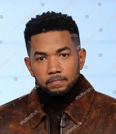 """Alano Miller speaks at the OWN: Oprah Winfrey Network's """"Cherish the Day"""" during the Discovery Network TCA 2020 Winter Press Tour at the Langham Huntington, in Pasadena, Calif"""