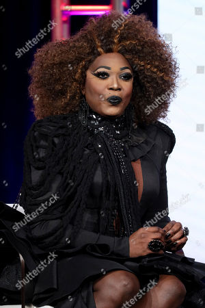 """Bebe Zahara Benet speaks at the TLC's """"Dragnificent!"""" during the Discovery Network TCA 2020 Winter Press Tour at the Langham Huntington, in Pasadena, Calif"""
