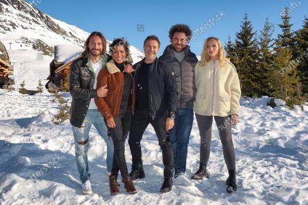 Bob Sinclar, Sabrina Ouazani, Jose Garcia, Nicolas Benamou and Chloe Jouannet