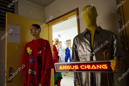 A model presents a creation from the Fall/Winter 2020/2021 Men's collection by Taiwanese designer Angus Chiang before the show during the Paris Fashion Week, in Paris, France, 16 January 2020. The presentation of the men's collections runs from 14 to 19 January.