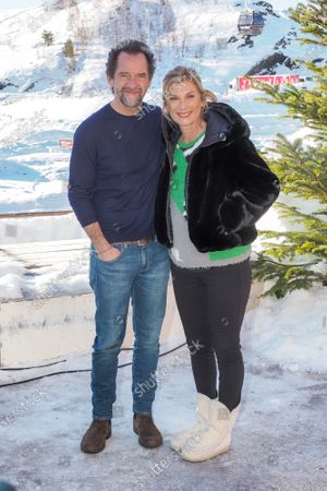 Stock Picture of Stephane De Groodt and Michele Laroque