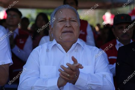 Stock Picture of Former Salvadoran president and former guerrilla leader of the leftist Farabundo Martí Front (FMLN), Salvador Sanchez Ceren, participates in an act to commemorate the 28th anniversary of the signing of the Peace Agreements in San Salvador, El Salvador, 16 January 2019. The silence of the Government of Nayib Bukele marked the 28th anniversary of the signing of the Peace Accords, which ended the Salvadoran civil war (1980-1992), as the Executive did not organize any official event to remember the thousands of dead and missing.