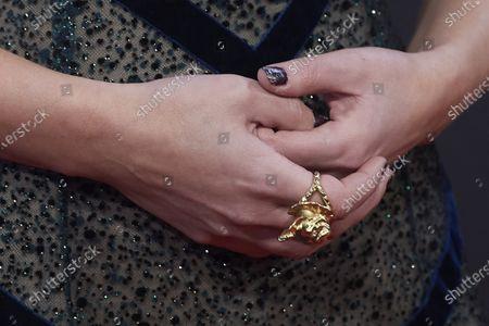 Stock Picture of Iria del Rio, jewellery detail