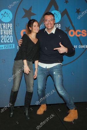Stock Picture of Melanie Bernier and Arnaud Ducret