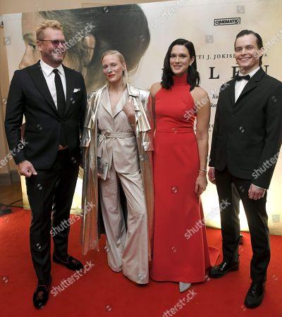 Antti J. Jokinen, Laura Birn (Helene Schjerfbeck), Krista Kosonen (Helena Westermarck) and Johannes Holopainen (Einar Reuter).