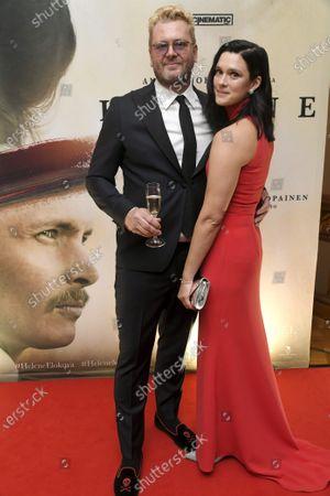 Stock Image of Antti J. Jokinen and his wife actress Krista Kosonen who plays Helena Westermarck.