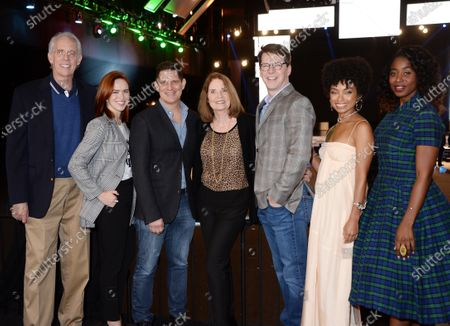 Daryl Anderson, Elizabeth McLaughlin, SAG Awards Executive Producer Todd Milliner, SAG Awards Executive Producer Kathy Connell, SAG Awards Executive Producer Sean Hayes, Logan Browning, and Kirby Howell-Baptiste