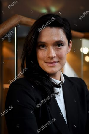 Krista Kosonen at a press event. Plays the role of Helena Westermarck in Helene. Also known for her work for movies Purge, Midwife, Dogs don`t wear pants, Miami and tv-series Putous, Kingi, Bullets and Beforeigners.