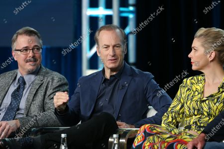 Vince Gilligan, Bod Odenkirk and Rhea Seehorn