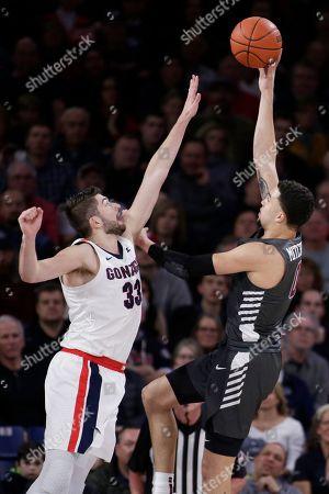 Editorial image of Santa Clara Gonzaga Basketball, Spokane, USA - 16 Jan 2020
