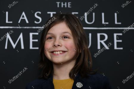 Stock Picture of Asher Miles Fallica poses on the red carpet prior to the premiere of the film 'The Last Full Measure', at Arclight Hollywood in Hollywood, California, USA, 16 January 2020.