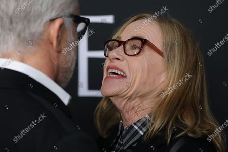 Amy Madigan (R) converses on the red carpet prior to the premiere of the film 'The Last Full Measure', at Arclight Hollywood in Hollywood, California, USA, 16 January 2020.