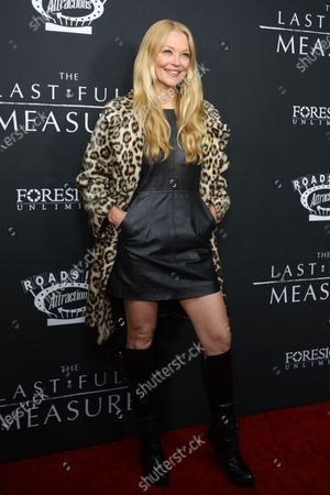 Charlotte Ross poses on the red carpet prior to the premiere of the film 'The Last Full Measure', at Arclight Hollywood in Hollywood, California, USA, 16 January 2020.