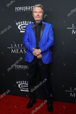 John Savage poses on the red carpet prior to the premiere of the film 'The Last Full Measure', at Arclight Hollywood in Hollywood, California, USA, 16 January 2020.