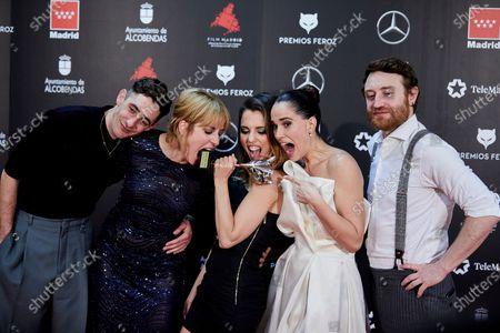 Enric Auquer, Leticia Dolera, Aixa Villagran, Celia Freijeiro and Manuel Burque