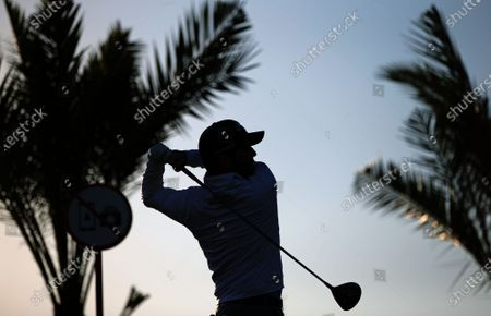 Branden Grace of South Africa in action during the second round of the Abu Dhabi HSBC Golf Championship 2020 at Abu Dhabi Golf Club in Abu Dhabi, United Arab Emirates, 17 January 2020.