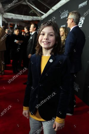 Stock Photo of Asher Miles Fallica at the World Premiere of Roadside Attractions/Foresight Limited's THE LAST FULL MEASURE at the Arclight Hollywood on January 16, 2020. The film is only in theatres nationwide on January 24, 2020.