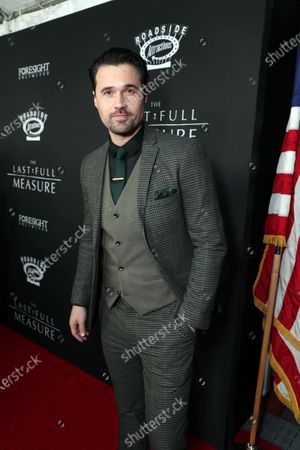 Stock Picture of Brett Dalton at the World Premiere of Roadside Attractions/Foresight Limited's THE LAST FULL MEASURE at the Arclight Hollywood on January 16, 2020. The film is only in theatres nationwide on January 24, 2020.