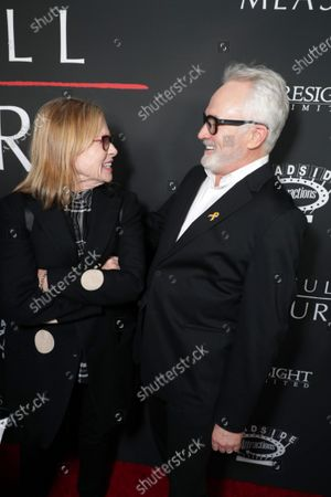 Amy Madigan and Bradley Whitford at the World Premiere of Roadside Attractions/Foresight Limited's THE LAST FULL MEASURE at the Arclight Hollywood on January 16, 2020. The film is only in theatres nationwide on January 24, 2020.
