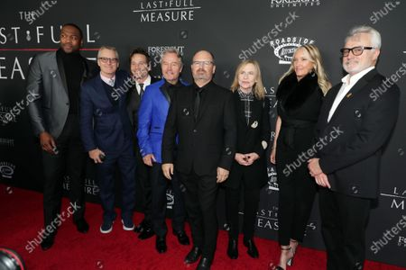 Ser'Darius Blain, Linus Roache, Travis Aaron Wade, John Savage, Writer/Director Todd Robinson, Amy Madigan, Parky DeVogelaere and Bradley Whitford at the World Premiere of Roadside Attractions/Foresight Limited's THE LAST FULL MEASURE at the Arclight Hollywood on January 16, 2020. The film is only in theatres nationwide on January 24, 2020.