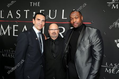 Stock Image of Producer Sidney Sherman, Writer/Director Todd Robinson and Ser'Darius Blain at the World Premiere of Roadside Attractions/Foresight Limited's THE LAST FULL MEASURE at the Arclight Hollywood on January 16, 2020. The film is only in theatres nationwide on January 24, 2020.