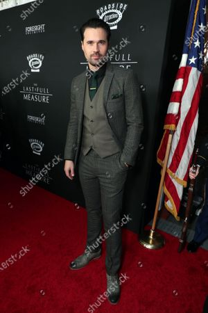 Stock Photo of Brett Dalton at the World Premiere of Roadside Attractions/Foresight Limited's THE LAST FULL MEASURE at the Arclight Hollywood on January 16, 2020. The film is only in theatres nationwide on January 24, 2020.
