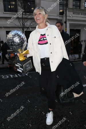 Editorial photo of Zoe Ball out and about, London, UK - 17 Jan 2020