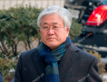 Park Sang-Jin, former president of Samsung Electronics arrives at the Seoul High Court